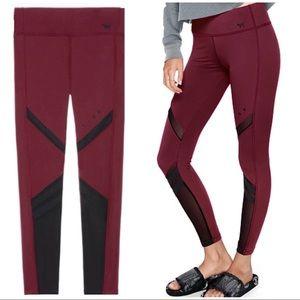 PINK VS Ultimate Fleece Lined Burgundy Leggings